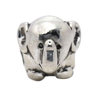 De Buman Sterling Silver Elephant Charm Bead