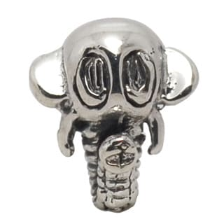 De Buman Sterling Silver Elephant Head Charm Bead