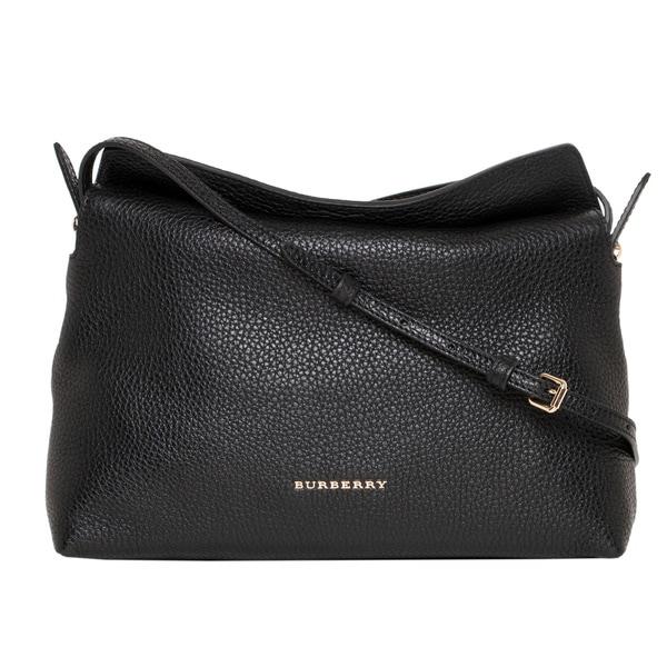 Burberry 'Leah' Small Black Grainy Leather Crossbody Bag