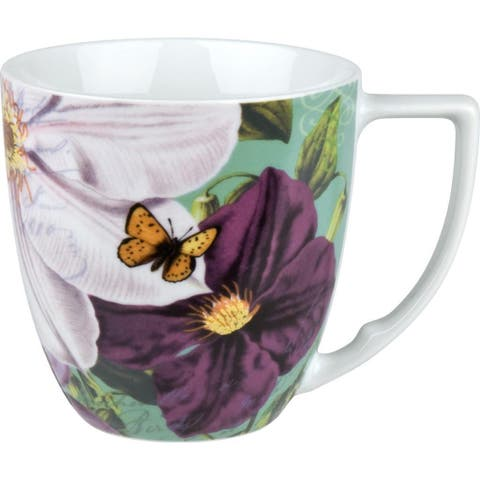 Waechtersbach Floral Impressions White Clematis Mugs (Set of 4)