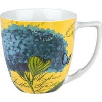 Waechtersbach Floral Impressions Blue Hydrangea Mugs (Set of 4)