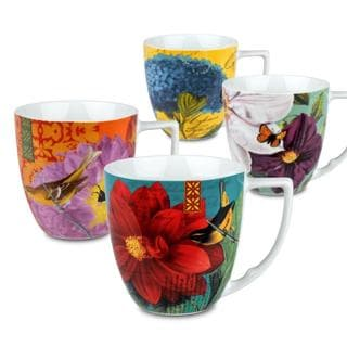 Link to Waechtersbach 'Accents' Floral Impressions Mugs (Set of 4) Similar Items in Dinnerware