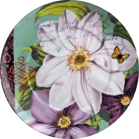 Waechtersbach Floral Impressions White Clematis Plates (Set of 4)