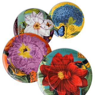 Waechtersbach Accents Floral Impressions Assorted Plates (Set of 4)