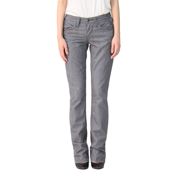 Stitch's Women's Grey Straight Leg Jeans - Free Shipping Today ...