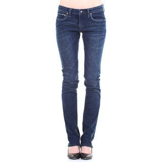 Stitch's Women's Blue Low Rise Straight Leg Jeans