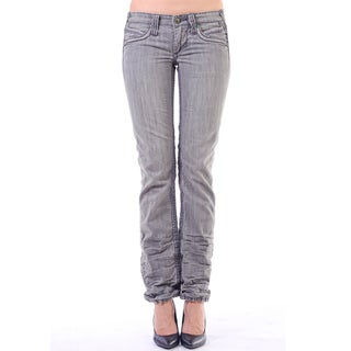Stitch's Women's Washed Grey Denim Straight Leg Pants
