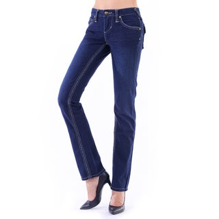 Stitch's Women's Soft Blue Straight Denim Jeans