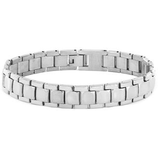 Stainless Steel Men's Brushed and Polished Link Bracelet
