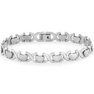 Elya Stainless Steel or Goldplated Heart Link Bracelet|https://ak1.ostkcdn.com/images/products/9331835/P16505554.jpg?impolicy=medium