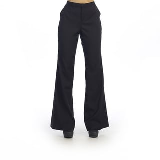 Hadari Women's Black Wide-leg Trousers