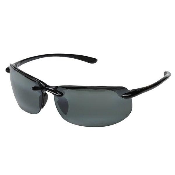 c5bd51ef3695a Shop Maui Jim Men s  Banyans  Black Polarized Sport Sunglasses ...