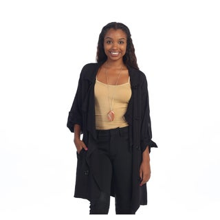 Hadari Women's Black Button Front Jacket