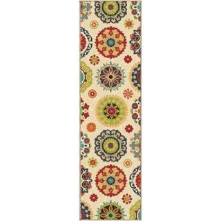 Carolina Weavers Santa Barbara Collection Pedro Multi Casual Floral Indoor/Outdoor Runner Rug (2'3 x 8)