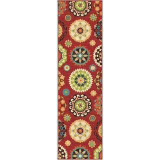 Indoor/ Outdoor Promise Salsalito Red Rug (2'3 x 8')