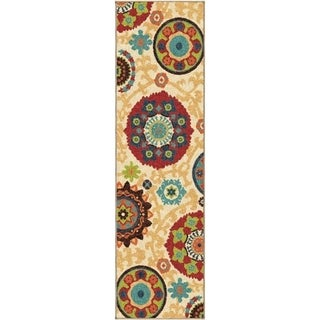 Indoor/ Outdoor Promise Fahri Beige Rug (2'3 x 8')