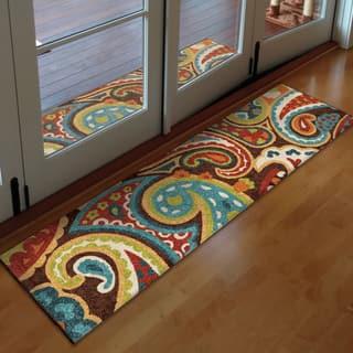 Carolina Weavers Indoor/Outdoor Santa Barbara Collection Floral Rainbow Multi Runner (2'3 x 8') - 2'3 x 8'|https://ak1.ostkcdn.com/images/products/9331948/P16505581.jpg?impolicy=medium