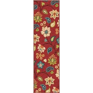 Carolina Weavers Indoor/Outdoor Santa Barbara Collection Virgin Island Red Runner (2'3 x 8')