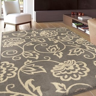 Carolina Weavers Eden Collection Andy Grey Area Rug (5'3 x 7'6) - 5'3 x 7'6