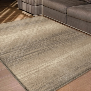 Carolina Weavers Eden Collection Fuse Beige Area Rug (5'3 x 7'6)