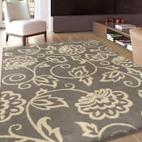 Carolina Weavers Eden Collection Andy Grey Area Rug (7'10 x 10'10) - 7'10 x 10'10
