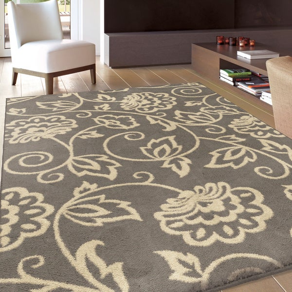 Carolina Weavers Eden Collection Andy Grey Area Rug (7u0026#39;10 x 10u0026#39;10) - Free Shipping Today ...