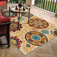 Carolina Weavers Indoor/Outdoor Santa Barbara Collection Tyro Multi Area Rug - 5'2 x 7'6