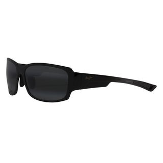 Maui Jim Men's 'Bamboo Forest' Black Polarized Rectangle Sunglasses