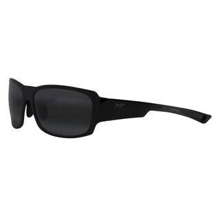 Maui Jim Men's 'Bamboo Forest' Black Polarized Rectangle Sunglasses