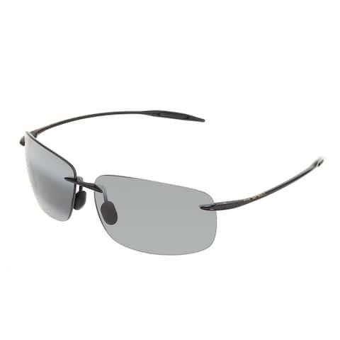 Maui Jim Unisex 'Breakwall 422-02' Black Polarized Square Sunglasses