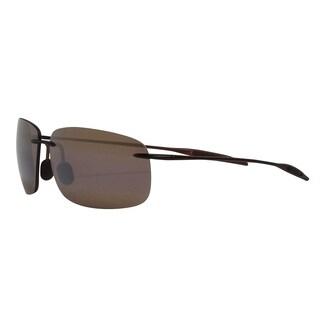 Maui Jim Unisex 'Breakwall' Brown Polarized Rimless Sunglasses