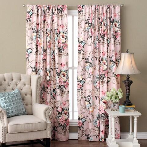Cottage Home Antoinette Floral Cotton 96-inch Single Curtain Panel