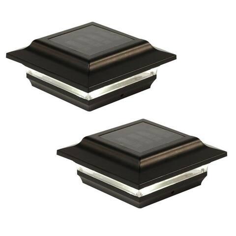 4x4 Black Aluminum Imperial Solar Post Cap (Set of 2)