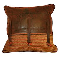 Croscill Plateau Toggle Brown/Multi Cotton-blend Throw Pillow