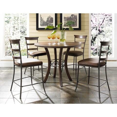 Cameron 5-piece Counter Height Round Wood Dining Set