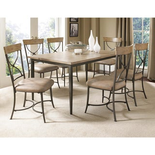 Charleston 7-piece Rectangle Dining Set with X-back Chairs