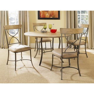 Charleston 5-piece Round X-back Chair Dining Set