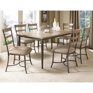 Charleston 7-piece Rectangle Dining Set with Ladderback Chairs