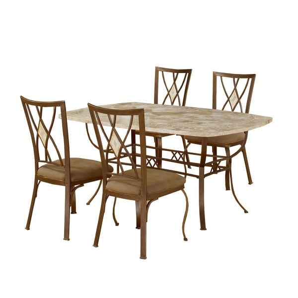 Brookside 5-piece Rectangle Dining Set with Diamond Back Chairs