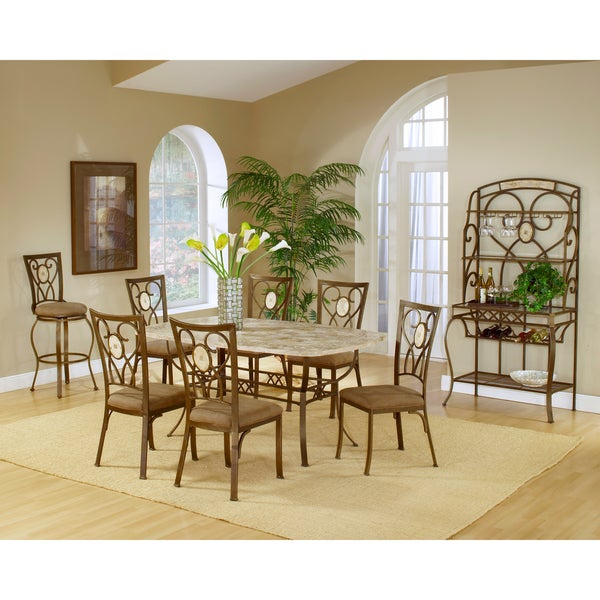 Brookside 7 piece rectangle dining set with oval back for Dining room furniture 0 finance