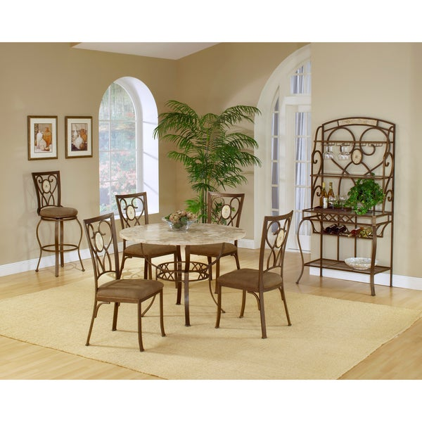 Brookside 5-piece Round Dining Set with Oval Back Chair