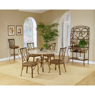 Brookside 5-piece Round Dining Set with Diamond Back Chairs