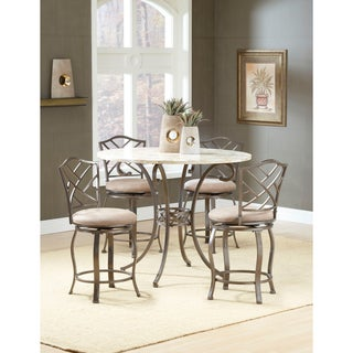 Brookside 5-piece Counter Height Dining Set with Hanover Stools