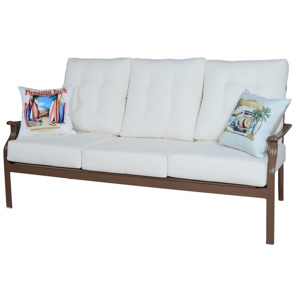 Shop Panama Jack Beige Island Breeze Deep Seating Sofa with Cushion ...