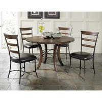 Cameron 5-piece Round Wood Dining Set with Ladder Back Chairs