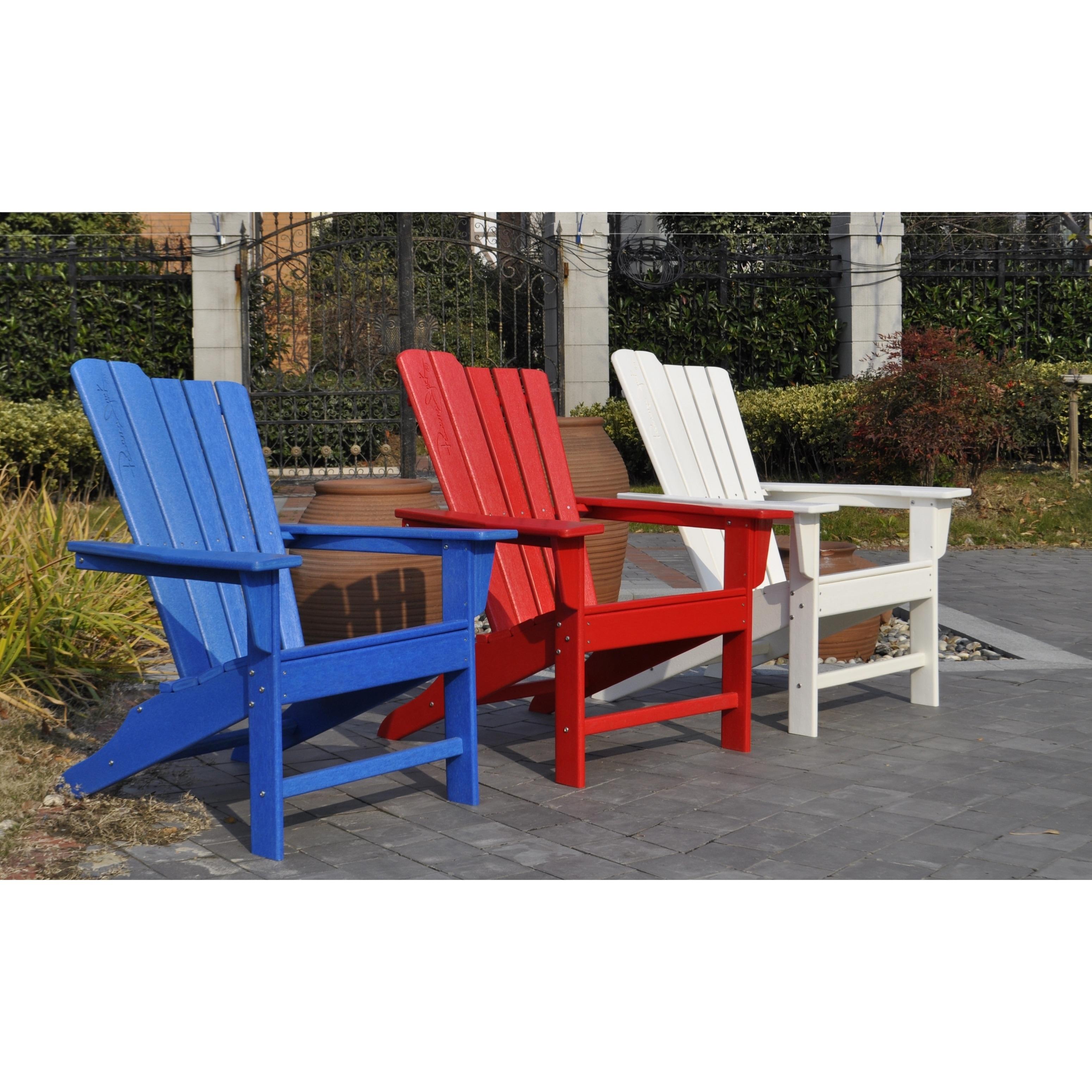 Panama Jack Adirondack Chair (Blue), Size Single, Patio F...