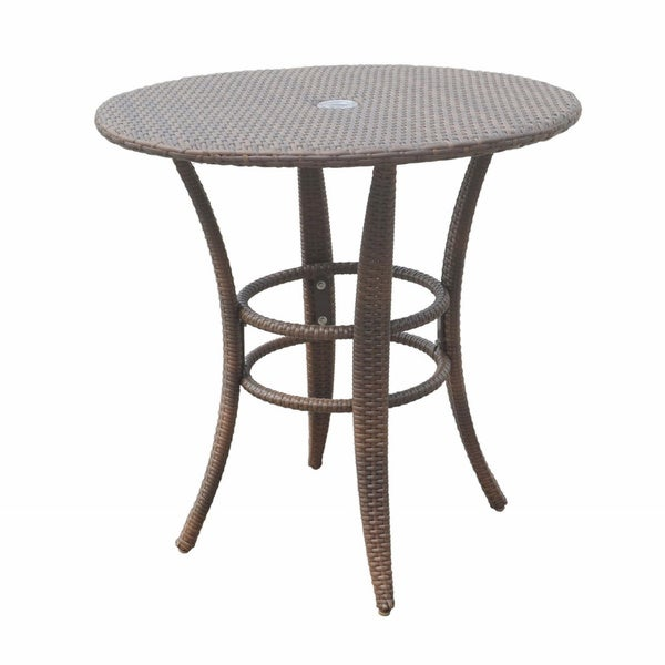 Panama Jack Key Biscayne Woven 30 Inch Round Bistro Table