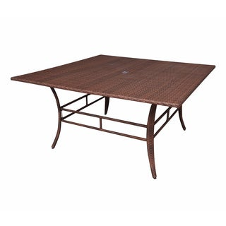 Panama Jack Key Biscayne Woven 60-inch Square Dining Table