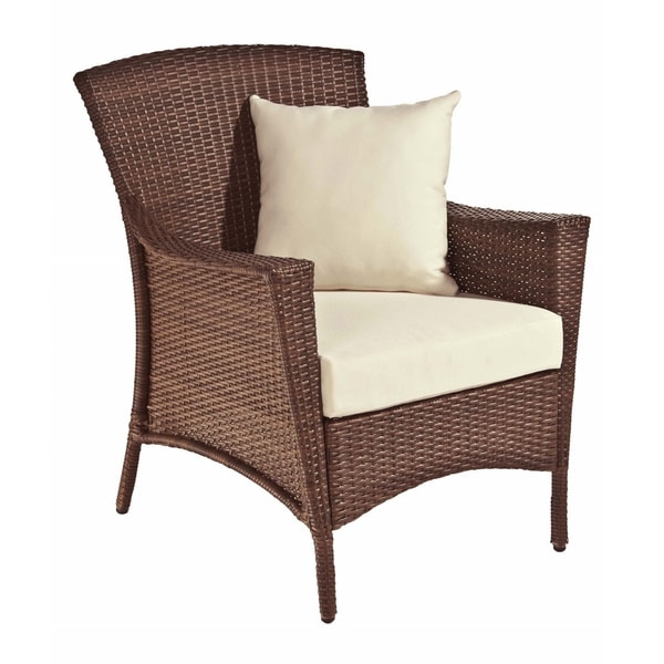 Panama Jack Key Biscayne Woven Lounge Chair with Cushion