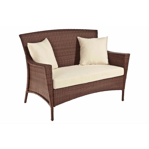 Panama Jack Key Biscayne Woven Loveseat with Cushion
